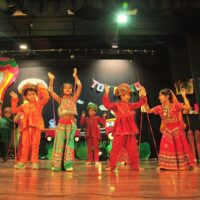 Our enthusiastic children performing on the annual day